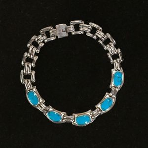 Jewelry - Mexican Silver and Turquoise Short Necklace